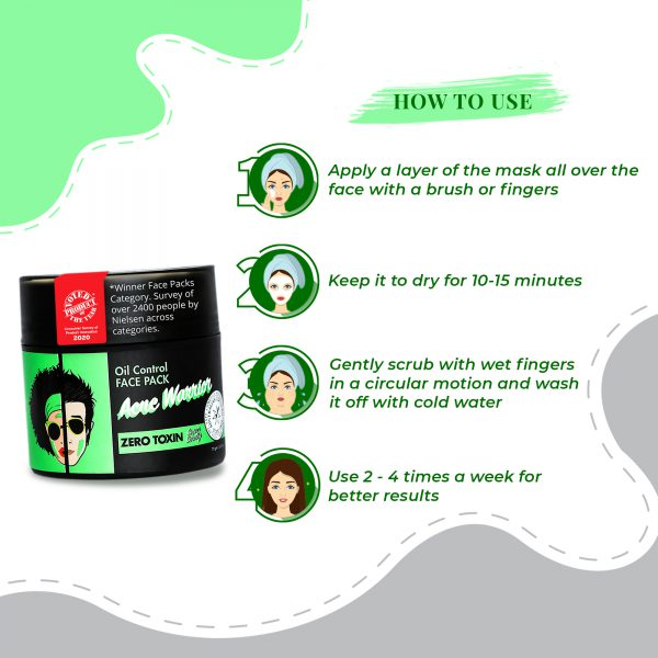 How to Use Acne Warrior & Oil Control Face Pack