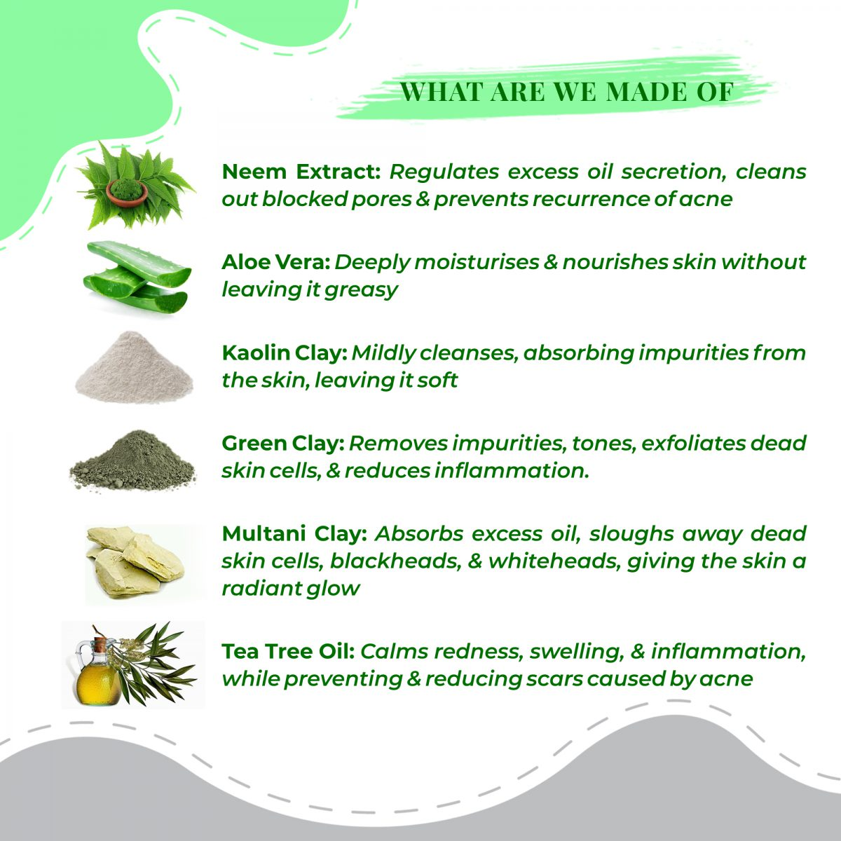 Ingredient Acne Warrior & Oil Control Face Pack | best chemical free face pack for oily skin in india | best face pack for oily acne prone skin | face pack for oily skin in summer