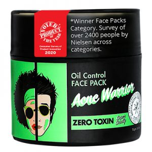 Acne Warrior Oil Control Face Pack | anti acne face Pack, best acne scar removal products, best face pack for acne, best face pack for acne and pimples, best face pack for acne prone skin