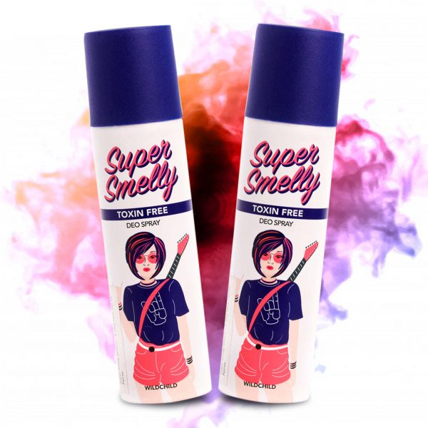 supersmelly Wild Child Deodorant Pack of 2 150ml | teen deo | deodorant combo pack | underarm deodorant for girls | underarm deodorant for womens | best deodorant for sweat | ladis deo | ladis deodorant best ladis deo in india | buy deodorant online india Buy Women's Deo Online | best natural women's deodorant | deodorant for girls | girls deodorant | teen deodorant | tween deo | tween deodorant | teenage deodorant | buy girls deo online