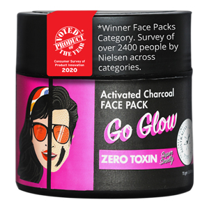 Go Glow Activated Charcoal Face Pack