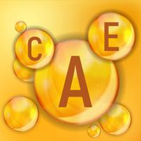 Vitamins A, C and E