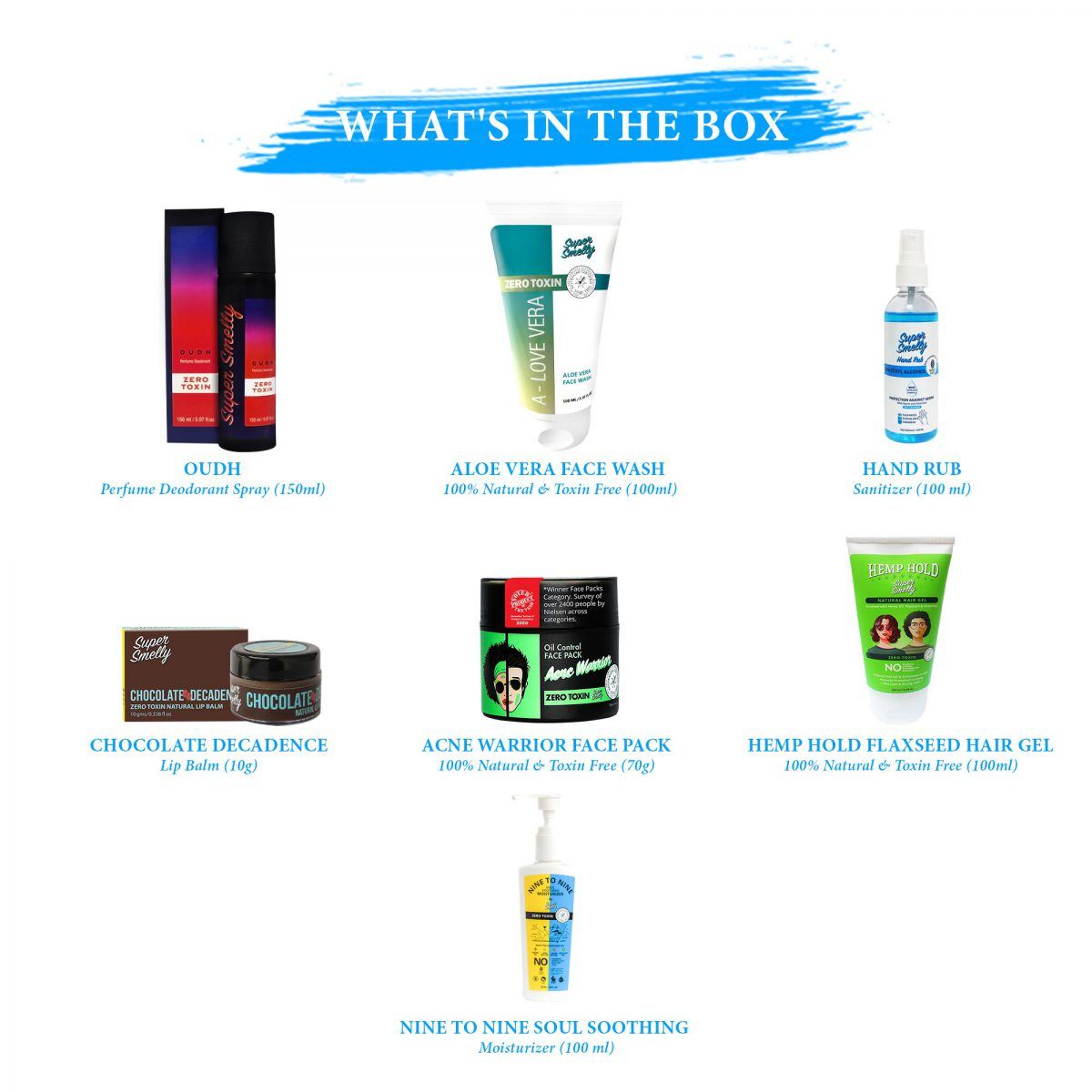 best skin care kit in india | Buy online supersmelly beauty combos | Buy supersmelly health and hygiene product combo