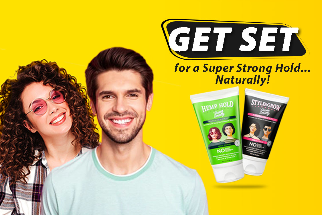 Supersmelly hemp hold hair gel | supersmelly style and grow onion hair gel