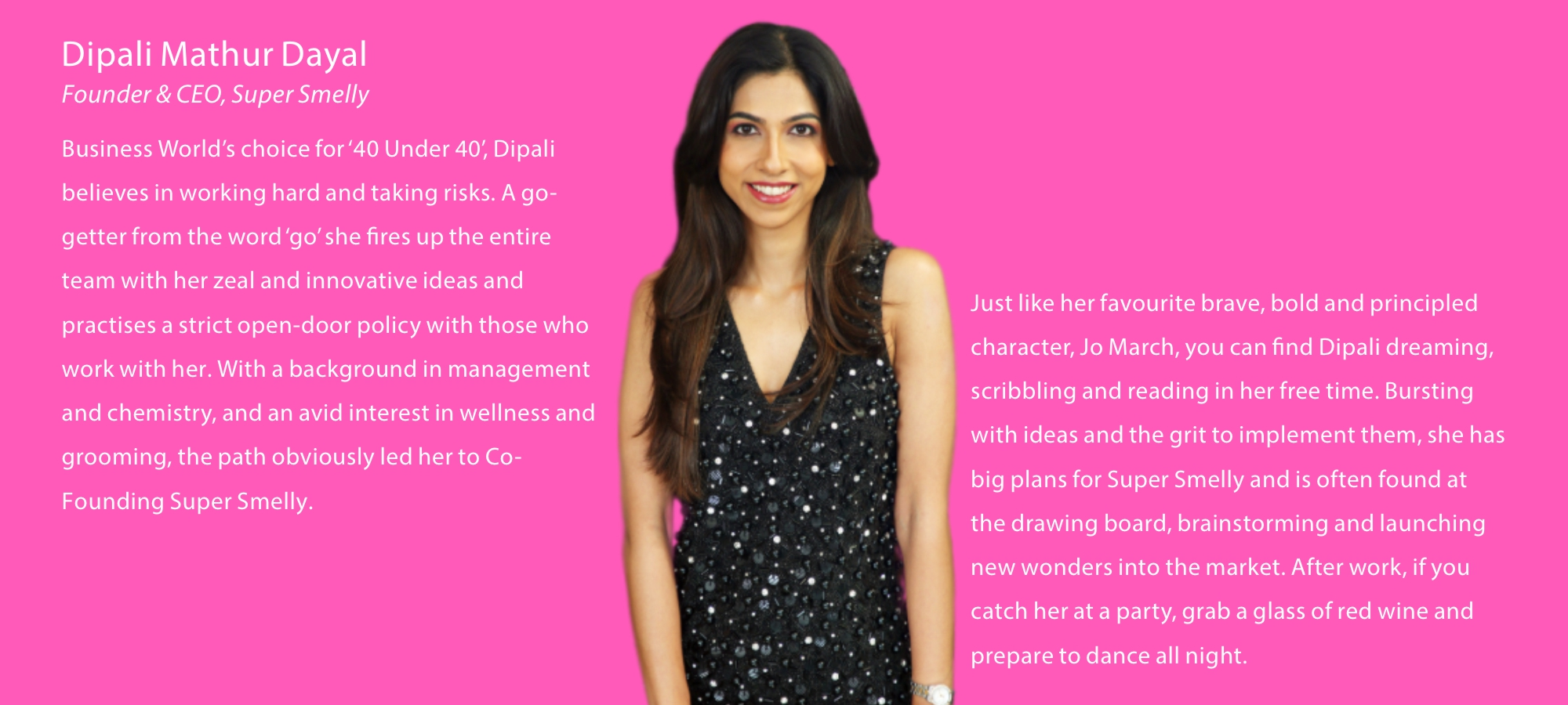 Dipali Mathur Dayal founder & CEO of Supersmelly